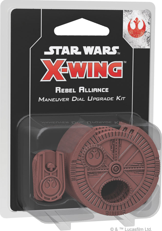 Star Wars X-wing: 2nd Edition - Rebel Alliance Maneuver Dial Upgrade Kit Box Front