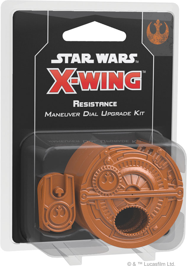 Star Wars X-wing: 2nd Edition - Resistance Maneuver Dial Upgrade Kit Game Box