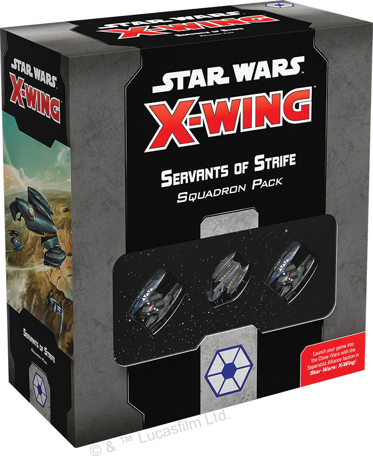 Star Wars X-wing: 2nd Edition - Servants Of Strife Squadron Pack Game Box