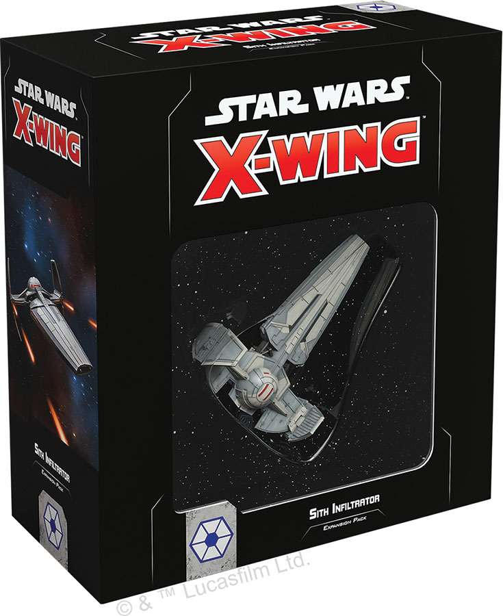 Star Wars X-wing: 2nd Edition - Sith Infiltrator Expansion Pack Game Box
