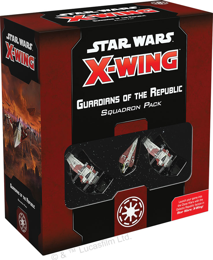 Star Wars X-wing: 2nd Edition - Guardians Of The Republic Squadron Pack Game Box
