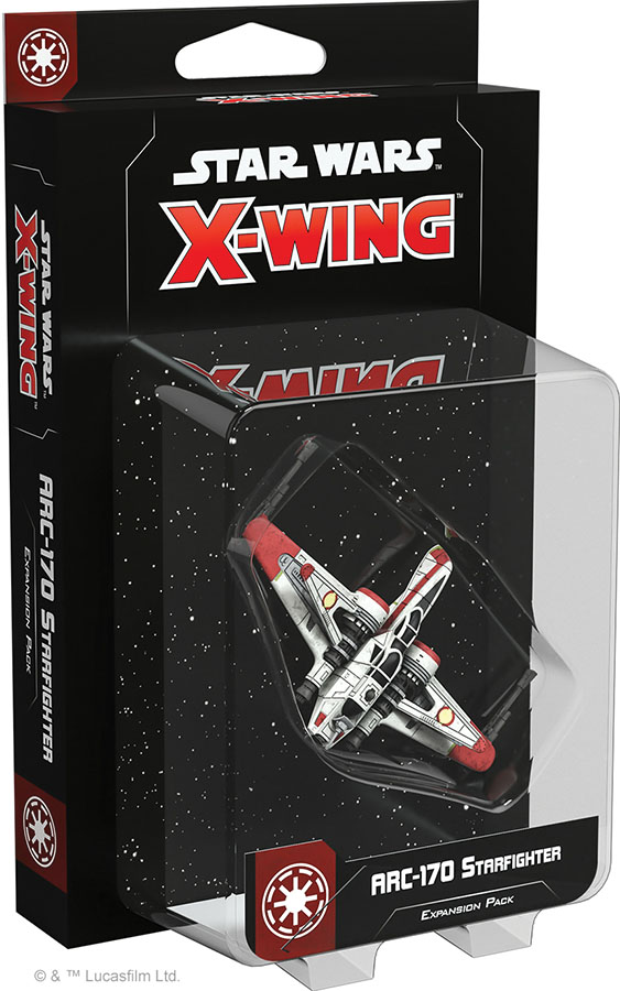 Star Wars X-wing: 2nd Edition - Arc-170 Starfighter Expansion Pack Game Box