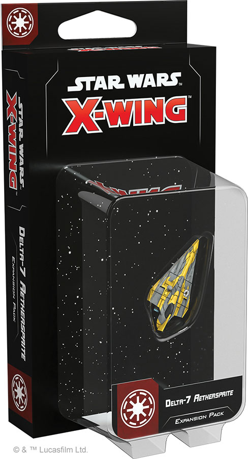 Star Wars X-wing: 2nd Edition - Delta-7 Aethersprite Expansion Pack Game Box