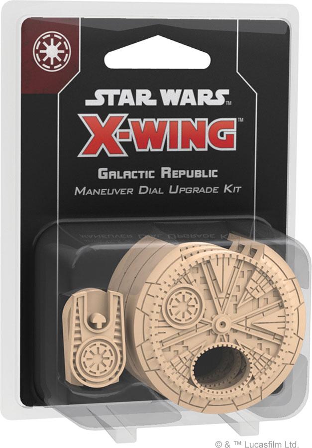 Star Wars X-wing: 2nd Edition - Galactic Republic Maneuver Dial Upgrade Kit Game Box