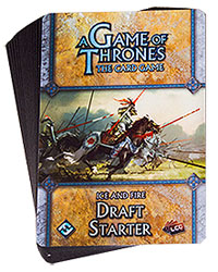 A Game Of Thrones Lcg: Ice And Fire Draft Starter Box Front