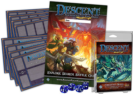Descent Journeys In The Dark 2nd Edition: Forgotten Souls Expansion Box Front