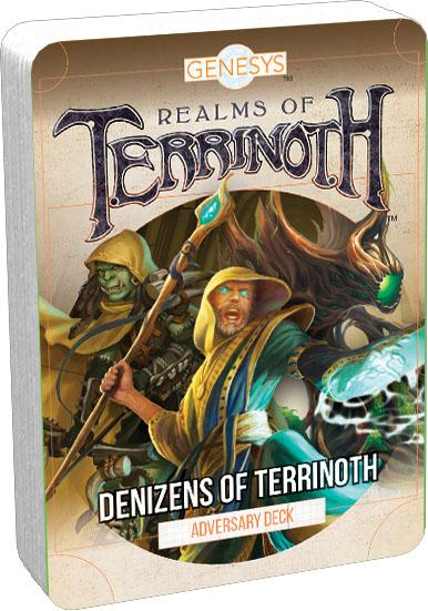Genesys Rpg: Adversary Deck - Denizens Of Terrinoth Game Box