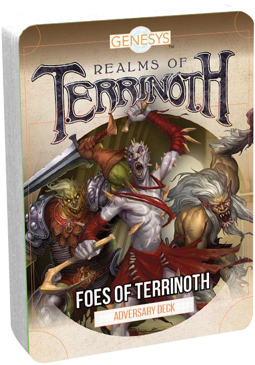 Genesys Rpg: Adversary Deck - Foes Of Terrinoth Game Box