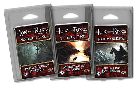 The Lord Of The Rings Lcg: Escape From Dol Goldur Nightmare Deck Box Front