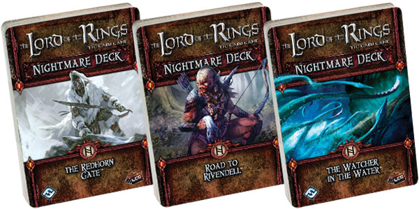 The Lord Of The Rings Lcg: The Watcher In The Water Nightmare Deck Box Front