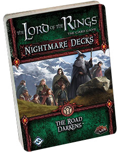 The Lord Of The Rings Lcg: The Road Darkens Nightmare Decks Box Front