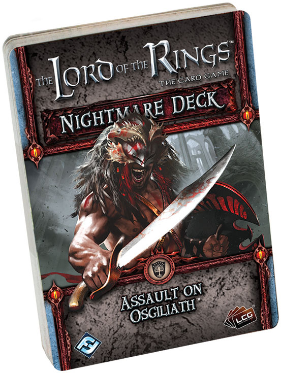 The Lord Of The Rings Lcg: Assault On Osgiliath Nightmare Deck Box Front