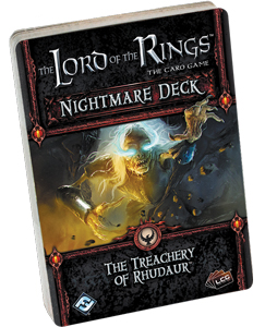 The Lord Of The Rings Lcg: The Treachery Of Rhudaur Nightmare Deck Box Front