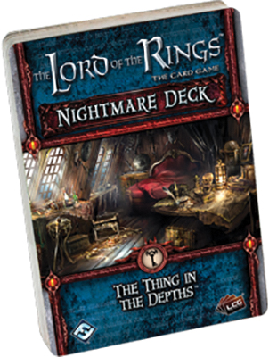 The Lord Of The Rings Lcg: The Thing In The Depths Nightmare Deck Box Front