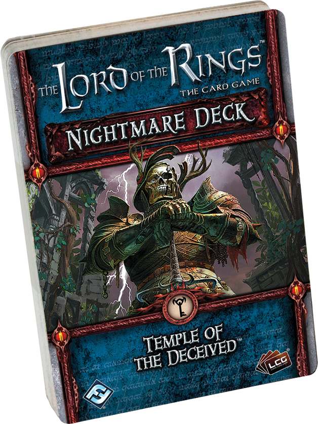 The Lord Of The Rings Lcg: Temple Of The Deceived Nightmare Deck Box Front