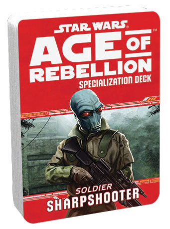 Star Wars Rpg: Age Of Rebellion - Sharpshooter Specialization Deck Box Front