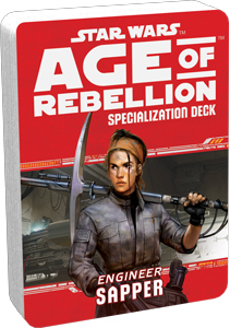 Star Wars Rpg: Age Of Rebellion - Sapper Specialization Deck Box Front