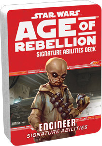 Star Wars Rpg: Age Of Rebellion - Engineer Signature Abilities Specialization Deck Box Front