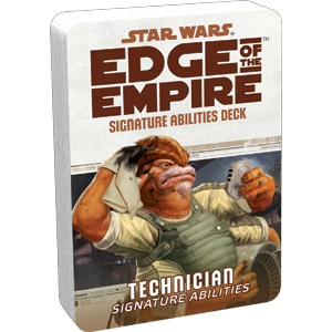 Star Wars Rpg: Edge Of The Empire - Technician Signature Abilities Deck Box Front