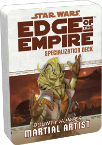 Star Wars Rpg: Edge Of The Empire - Martial Artist Specialization Deck Box Front