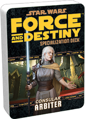 Star Wars Rpg: Force And Destiny - Arbiter Specialization Deck Box Front