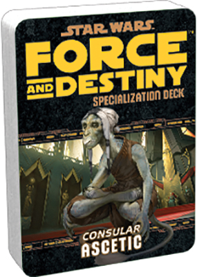 Star Wars Rpg: Force And Destiny - Ascetic Specialization Deck Box Front