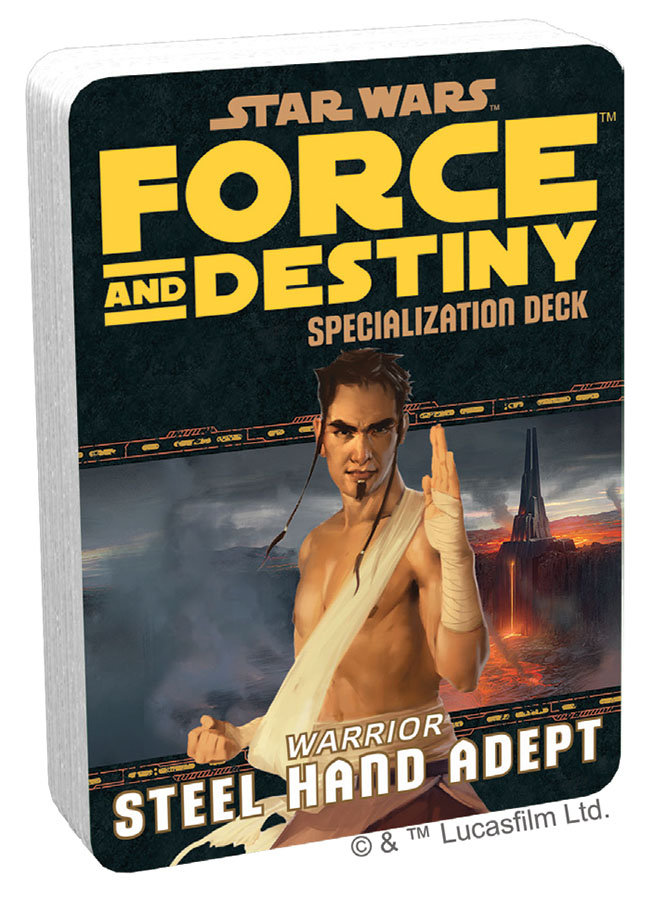 Star Wars Rpg: Force And Destiny - Steel Hand Adept Specialization Deck Game Box