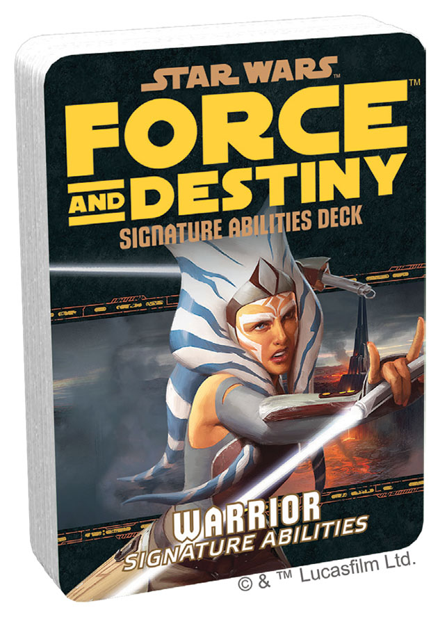 Star Wars Rpg: Force And Destiny - Warrior Signature Abilities Specialization Deck Game Box