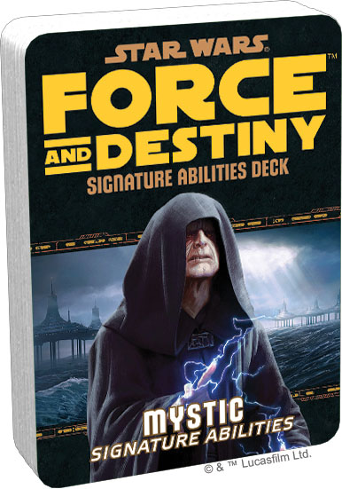 Star Wars Rpg: Force And Destiny - Mystic Signature Abilities Specialization Deck Box Front