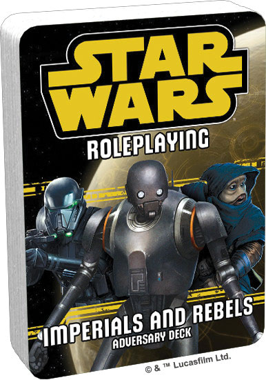 Star Wars Rpg: Adversary Deck - Imperials And Rebels Iii Deck Game Box