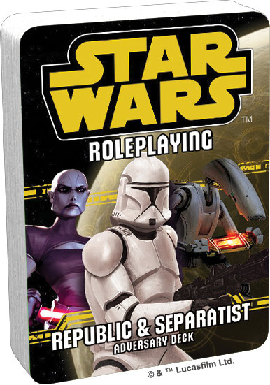 Star Wars Rpg: Adversary Deck - Republic And Separatist Game Box