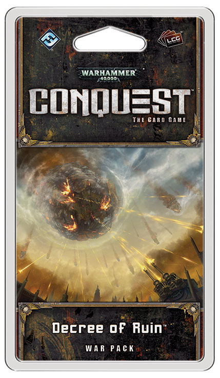 Warhammer 40k Conquest Lcg: Conquest - Decree Of Ruin War Pack Box Front