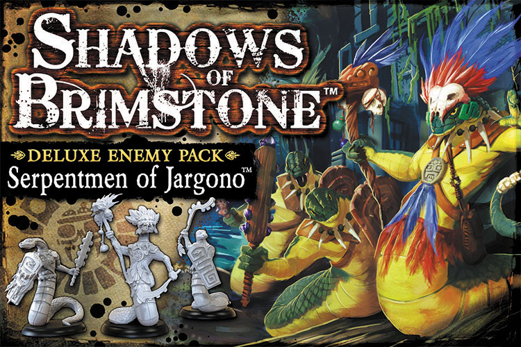 Shadows Of Brimstone: Serpentmen Of Jargono Deluxe Enemy Pack Box Front