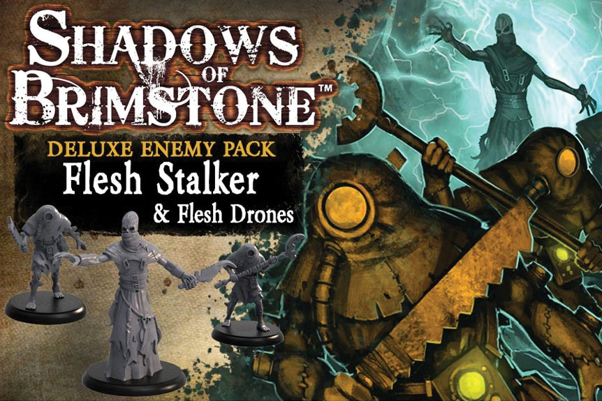 Shadows Of Brimstone: Flesh Stalker And Flesh Drones Deluxe Enemy Pack Box Front