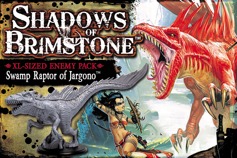 Shadows Of Brimstone: Swamp Raptor Of Jargono Xl Sized Enemy Pack Box Front