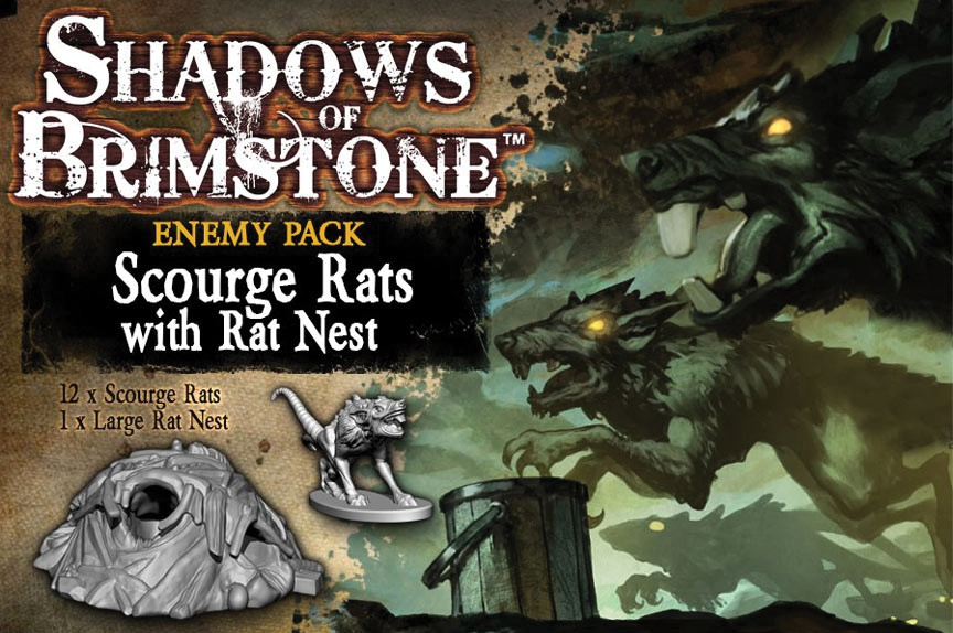 Shadows Of Brimstone: Scourge Rats Enemy Pack Box Front