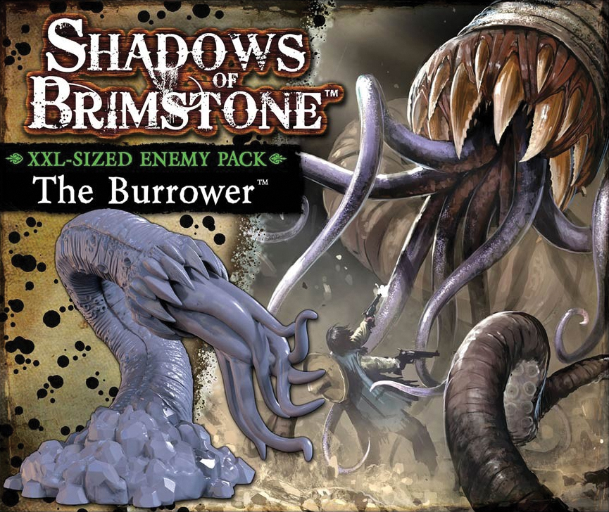 Shadows Of Brimstone: Burrower Xxl Sized Enemy Pack Box Front