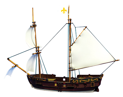 Blood & Plunder: Brigantine Ship (resin) Box Front