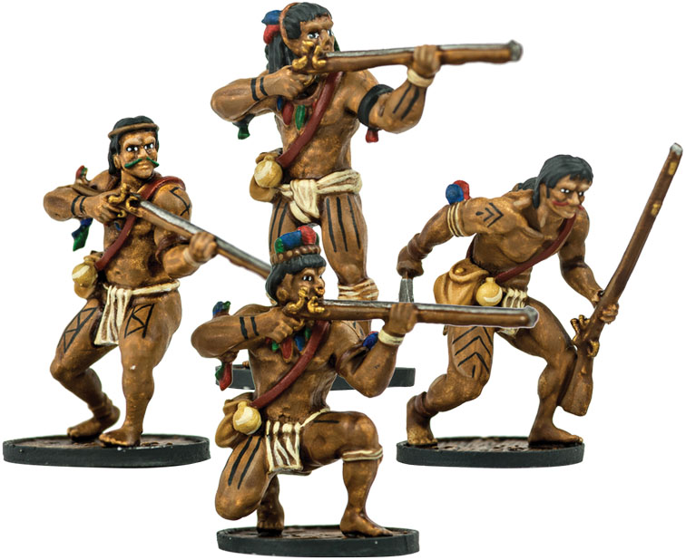 Blood & Plunder: Native American Warrior Musketeers Unit Box Front