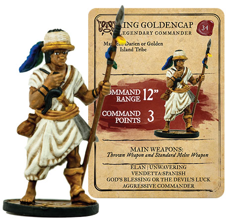 Blood & Plunder: Native American King Golden Cap Legendary Commander Box Front