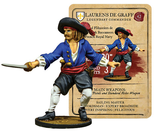Blood & Plunder: French Laurens De Graff Legendary Commander Box Front