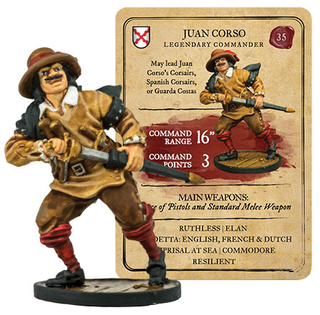 Blood & Plunder: Spanish Juan Corso Legendary Commander Box Front