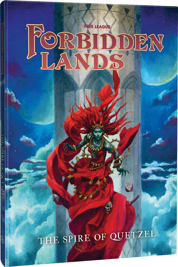 Forbidden Lands Rpg: Quetzels Spire Scenario Compendium Game Box
