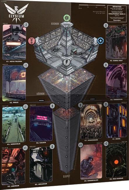 Mutant: Year Zero Rpg - Elysium Map Game Box