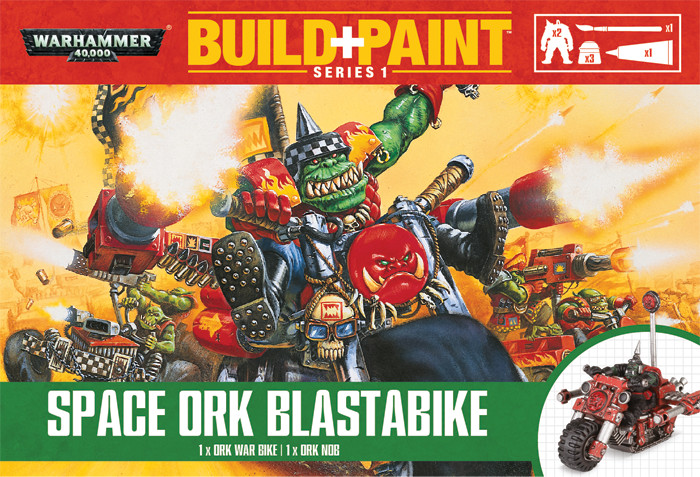 Warhammer 40k: Build And Paint - Ork Blastabike Box Front