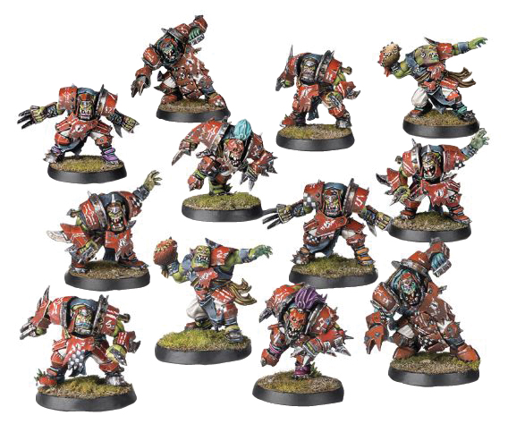 Blood Bowl: The Gouged Eye (orc Team) Box Front