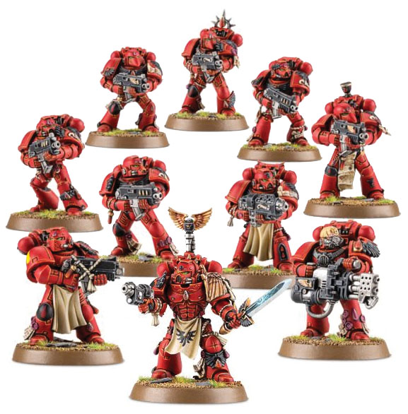 Warhammer 40k: Space Marine Blood Angels Tactical Squad Box Front