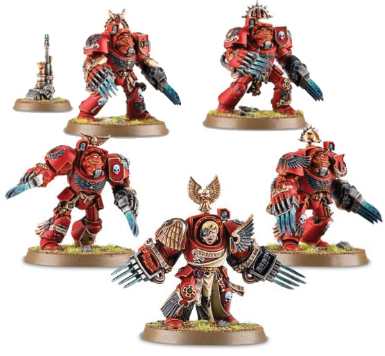 Warhammer 40k: Space Marine Blood Angels Terminator Assault Squad Box Front