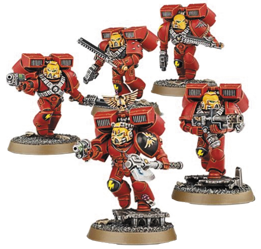 Warhammer 40k: Space Marine Blood Angels Assault Squad Box Front