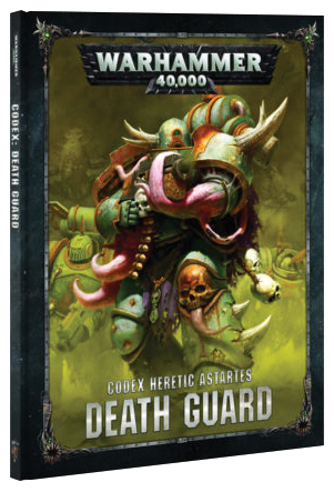 Warhammer 40k: Chaos Space Marine Death Guard Codex (hardcover) Box Front